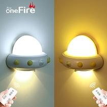 柔光护眼婴儿充电小夜灯插电床头灯宝宝新生儿遥控台灯卧室喂奶灯