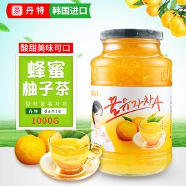 韓國進口丹特蜂蜜柚子茶 原裝進口果味茶沖泡水果茶果醬飲品1000g圖片