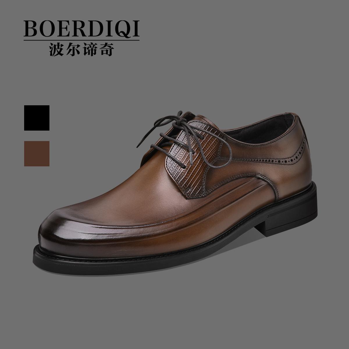 ビジネススーツ手作り牛革男性靴2021秋冬新商品本革インラン男性靴ファッション社交靴