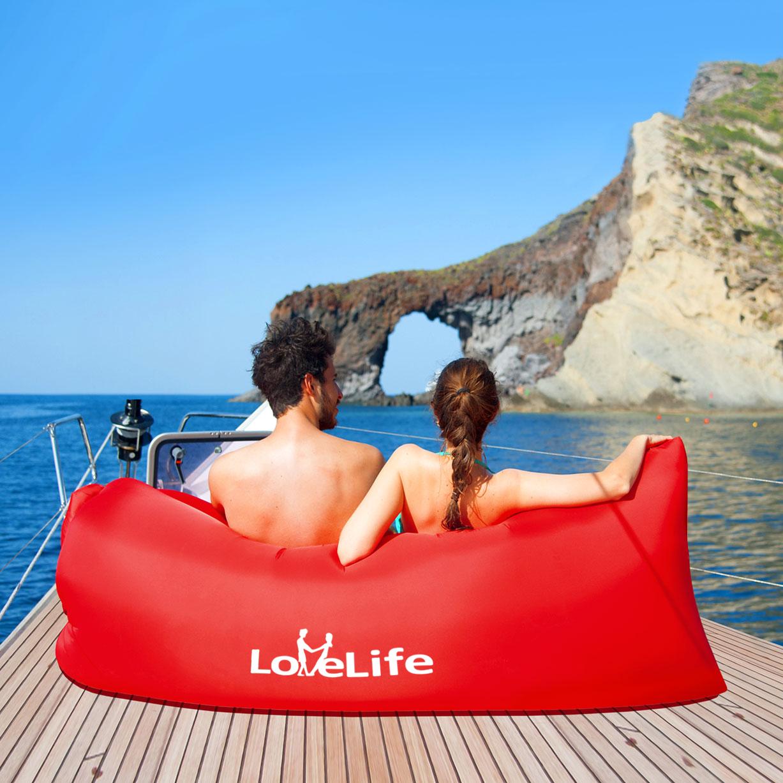 LoveLife аутентичные высокой файлы портативный газированный диван - кровать на открытом воздухе бездельник карман воздух один спальный мешок полдень остальные