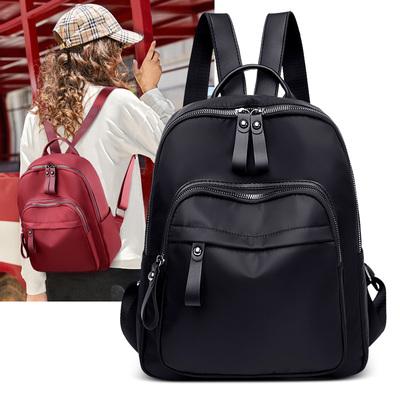 双肩包女2020新款时尚百搭休闲韩版旅行背包牛津布软皮书包包潮