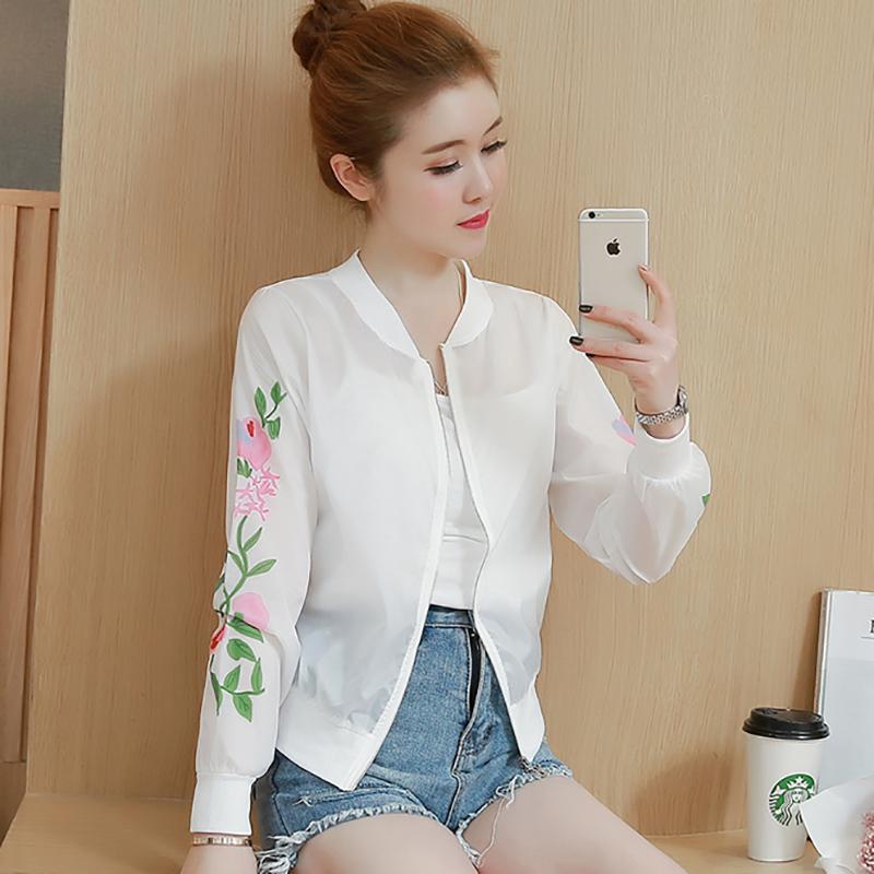 防晒衣女夏季2018新款百搭防紫外线韩版开衫薄款夹克长袖短款外套