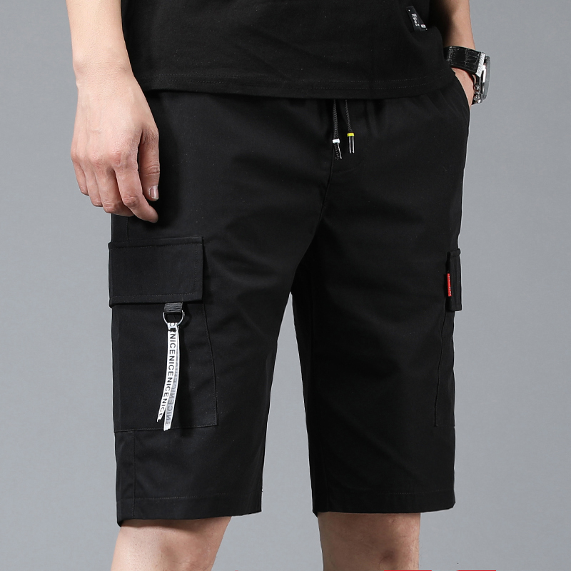 夏季薄款工装短裤男裤子潮牌ins外穿五分中裤男士休闲宽松青少年