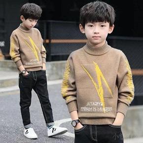 童装男童毛衣秋冬新款儿童打底衫套头中大童男孩加绒针织衫洋气潮