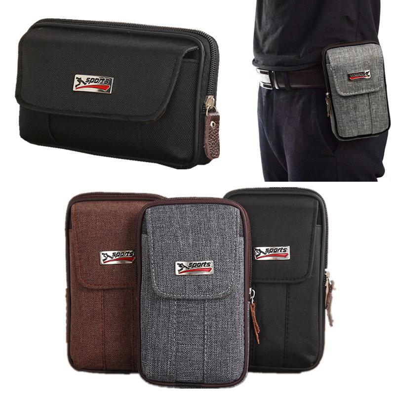 11月05日最新优惠帆布防水老人手机包男腰包穿皮带老人机腰间男士穿皮带腰包手机袋