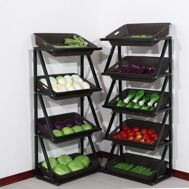 超市水果蔬菜货架展示架创意多层菜架便利店果蔬架小零食货架包邮