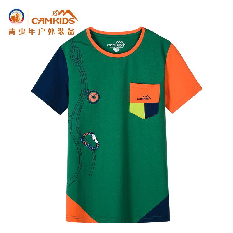 camkids小駱駝 男童短袖T恤 純棉 青少年兒童t恤上衣
