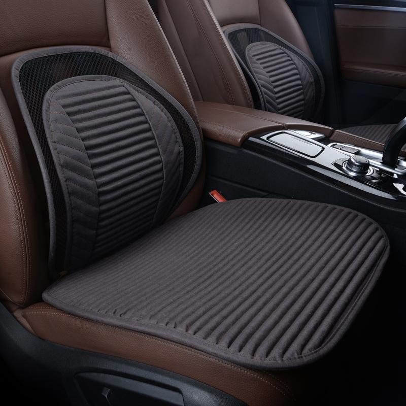 汽车坐垫2020新款春夏亚麻四季通用无靠背座垫单片个车坐垫三件套