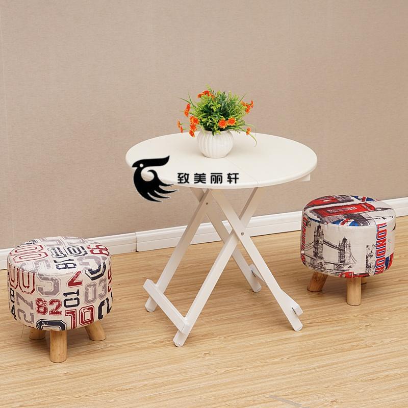 居家实木折叠小木桌便携式户外圆桌10月17日最新优惠