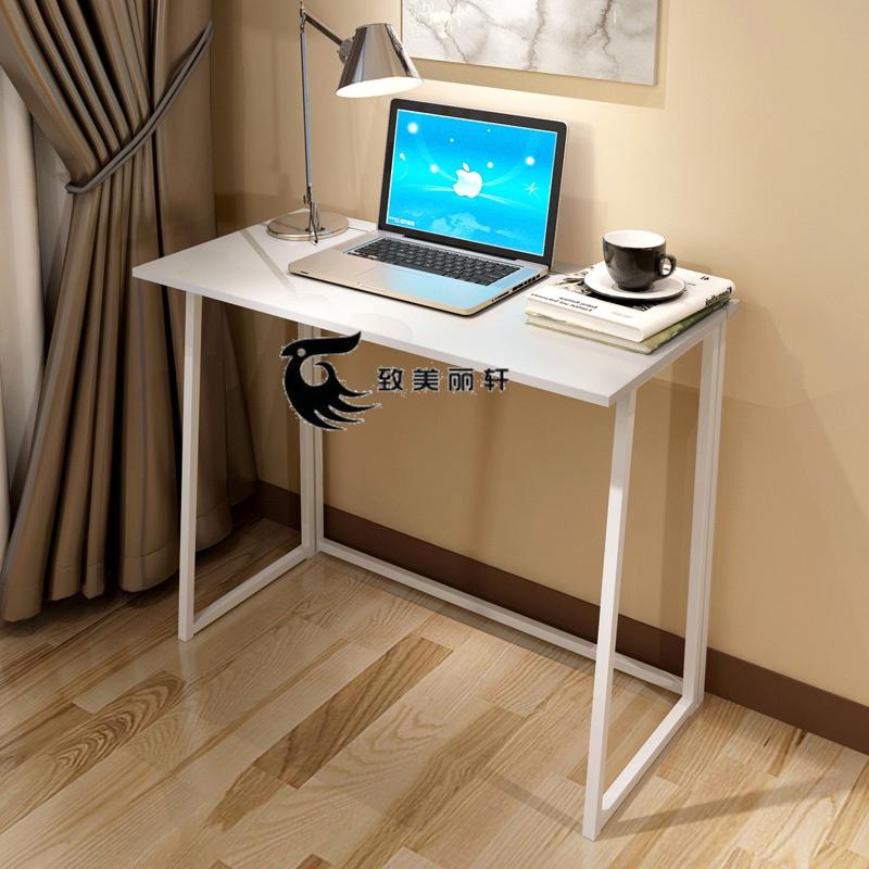 98.53元包邮写字台台式电脑免笔记本桌电脑家用办公可折叠折叠桌书桌简易安装