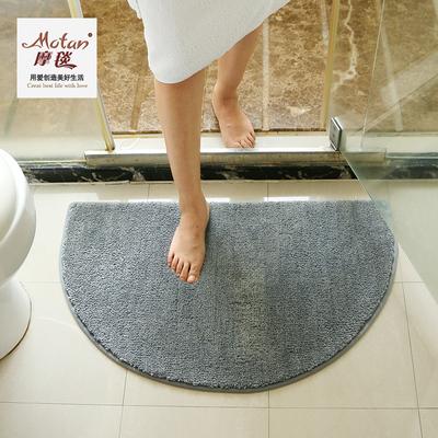 门口地垫半圆地垫纯色脚垫家用踩脚卧室门垫卫生间防滑垫吸水地垫