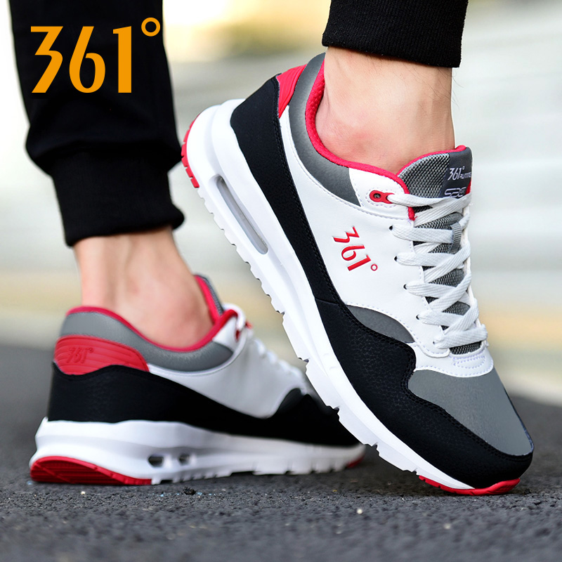 361 men's shoes autumn and winter air cushion sports shoes men's winter men's shoes leather running shoes 361 degrees casual shoes tide