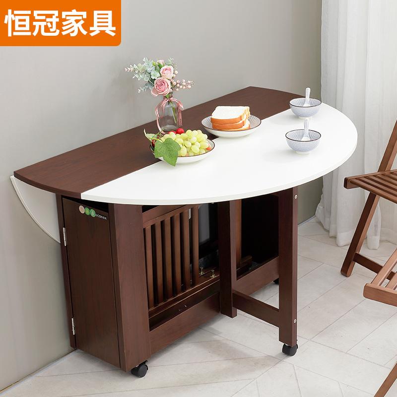 限2000张券折叠圆桌餐桌家用小户型折叠桌多功能吃饭桌折叠餐桌简易折叠桌