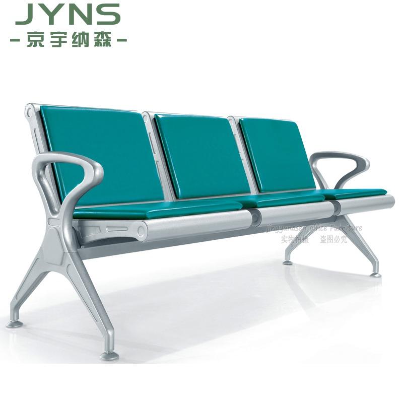 Кресло-стул с четырьмя сиденьями Подставка для ожидания Стул с выдвижным ящиком для больниц Ожидающий стул 4 места Кресла для посетителей Общественный лаундж-стул
