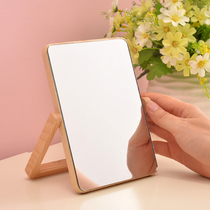 Pouvent people Creative European desktop makeup mirror wooden double-sided mirror HD dressing mirror princess Mirror table Mirror