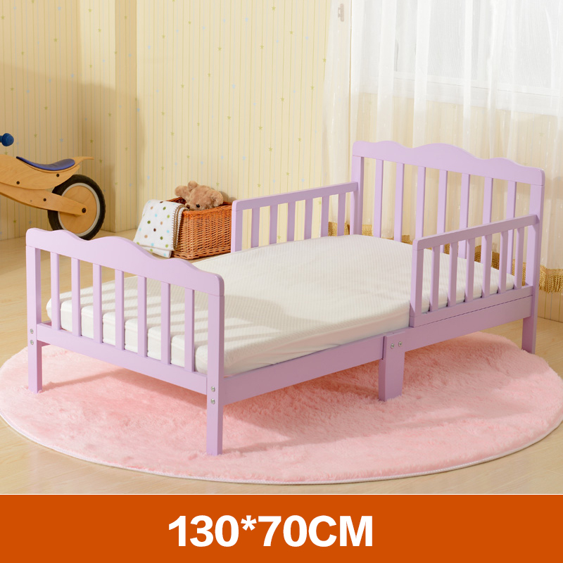 New solid wood childrens bed pine bed kindergarten guardrail boys and girls suitable for family children to sleep separately