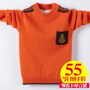 男童套头秋冬款中大童儿童岁羊毛衫