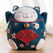 日本正品可爱电动偷钱猫凯蒂猫正版熊本熊自动存钱罐储蓄罐储钱罐