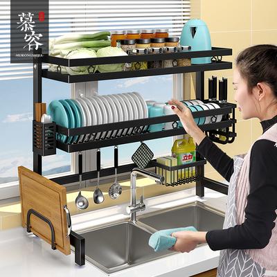 厨房水槽置物架多功能台面碗盘碗架沥水架碗碟收纳架子水池上用品
