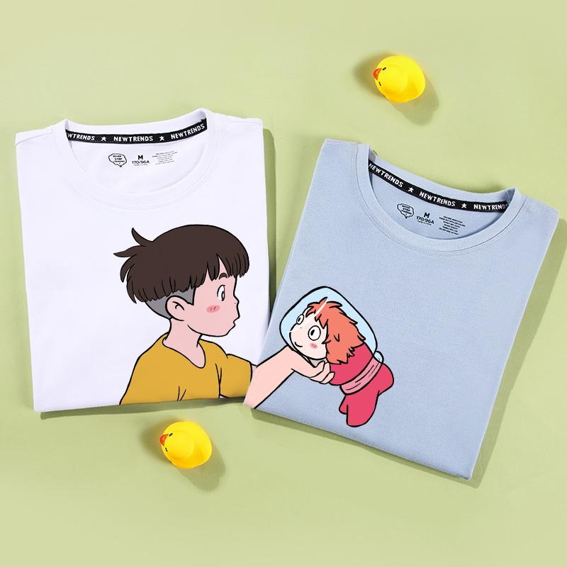 不一样的情侣装夏装短袖情侣t恤10-30新券