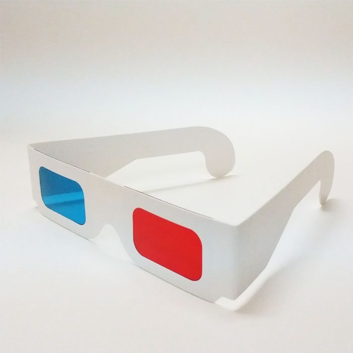 Customized disposable paper 3D red blue stereo glasses