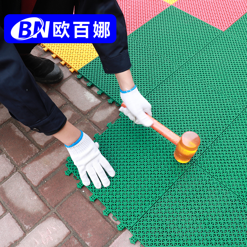 Orbena floating floor outdoor kindergarten antiskid sports basketball court plastic outdoor suspended assembled floor mat