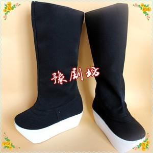 戏曲戏剧京剧越剧古装靴子小生鞋厚底靴朝方朝靴高靴官靴 武生靴