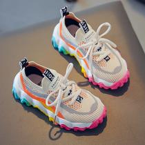芭比童鞋女童运动鞋春秋款儿童网鞋女孩小白鞋公主百搭潮跑步鞋子