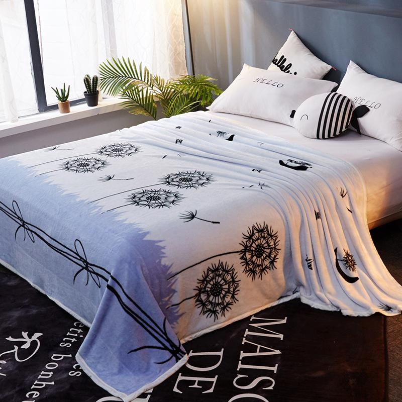 冬季铺床床垫毛毯垫被子珊瑚绒加绒床单法兰水晶毛绒加厚单件双人