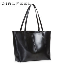 Cowhide Commuter Girl Bag 2019 New Fashion Single Shoulder Large Bag Large Capacity Simple Todd Bag True Leather Handbag