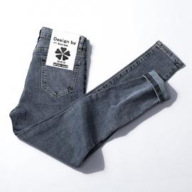 牛仔裤女高腰修身显瘦长裤显高网红泫雅2019秋装黑色紧身小脚裤子图片