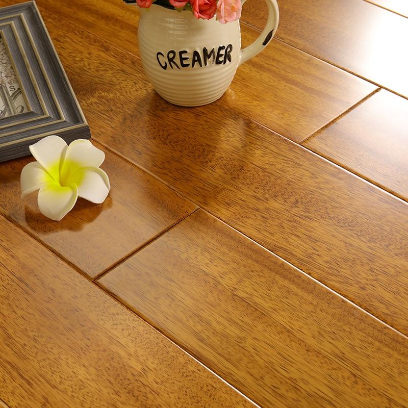 非洲柚木紐頓豆純實木地板 原木臥室地熱地暖鎖扣免龍骨廠家直銷