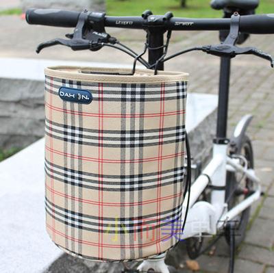 折叠自行车车筐加厚防水帆布车篮子滑板电动车车篓前车筐单车菜篮