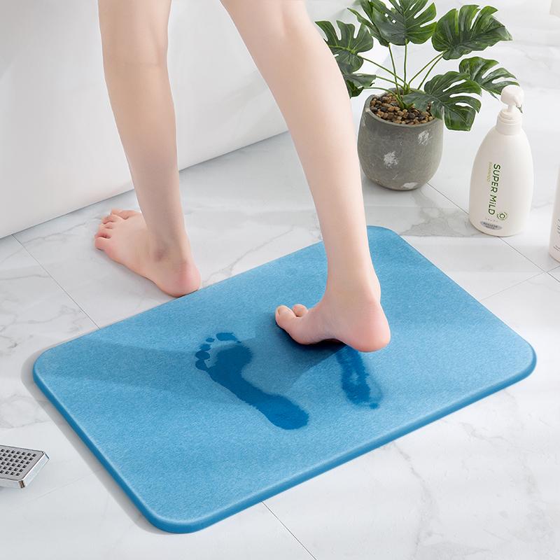 硅藻泥吸水脚垫浴室防潮防滑垫速干脚垫硅藻土卫生间卫浴门口地垫