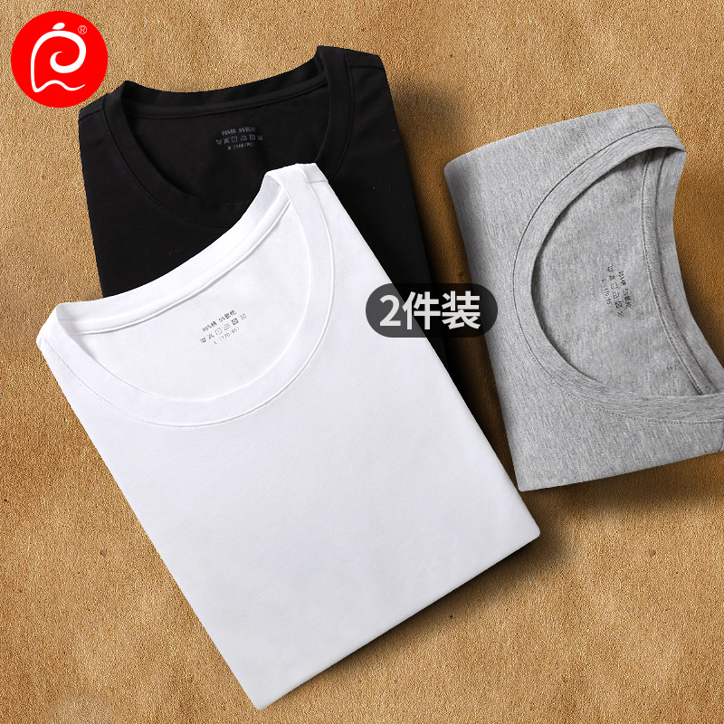 Aw19 t-shirt mens short sleeve trend youth sports bottoming shirt Lycra cotton thin round neck thin T-shirt