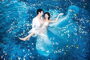 三亚米娅婚纱摄影报销1000元  游艇  水下 马场  礁石  夕阳
