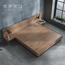米小户型板式床收纳现代简约主卧床1.5米双人床1.8气动高箱储物床
