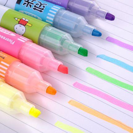 包邮晨光彩色荧光笔米菲香味标记笔