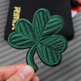 植物绿叶魔术贴叶子刺绣个性刺绣贴章魔术贴徽章士气章背包魔术贴