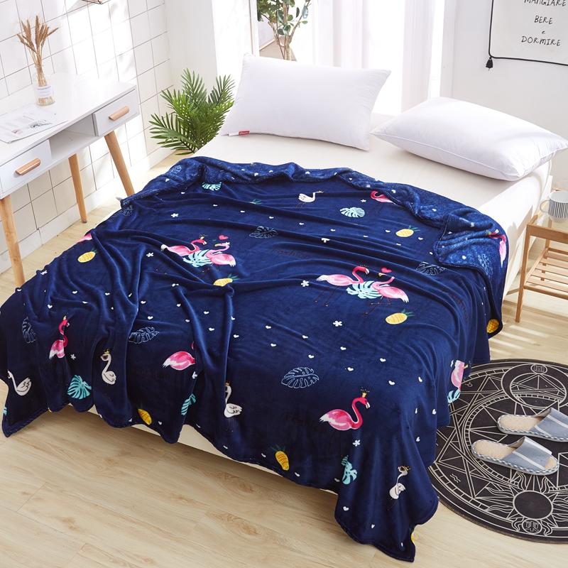 冬季薄款法兰绒毛毯珊瑚绒毯子单双人绒床单沙发毯学生绒毯床单