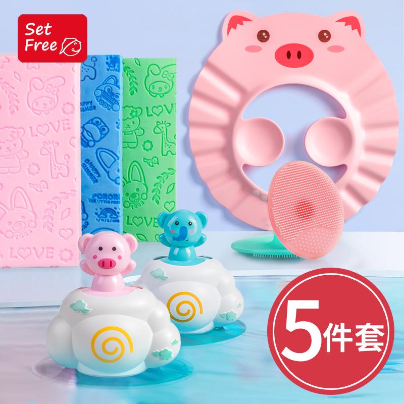Santa Fe Baby Bath Products Baby Bath Wipe Neonatal Bath Cotton Bath Sponge for Children