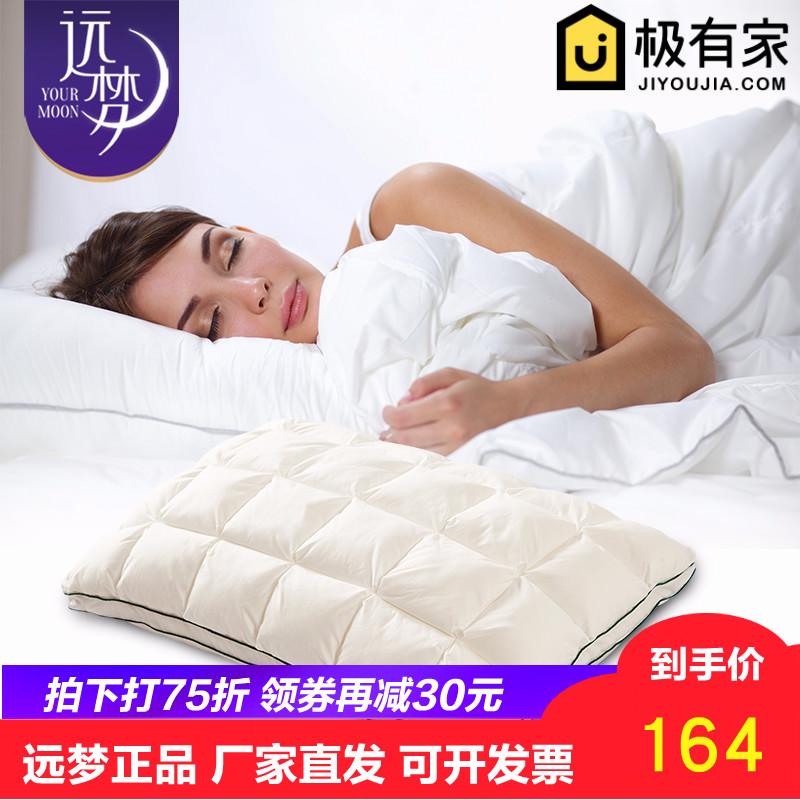 远梦家纺生物绒呼吸枕芯美国杜邦植物纤维五星级酒店全棉柔软枕头淘宝优惠券