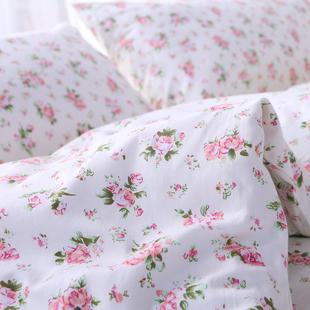 米白底小碎花单人宿舍床双人床1.2m1.5m1.8m2.0纯棉斜纹床单单件