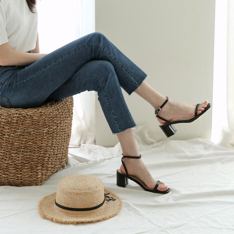 安河桥2019夏季新款粗跟chic凉鞋限6000张券