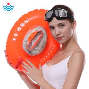 浪姿跟屁虫F906双气囊游泳包漂流袋加厚航空气嘴游泳浮标可装衣物