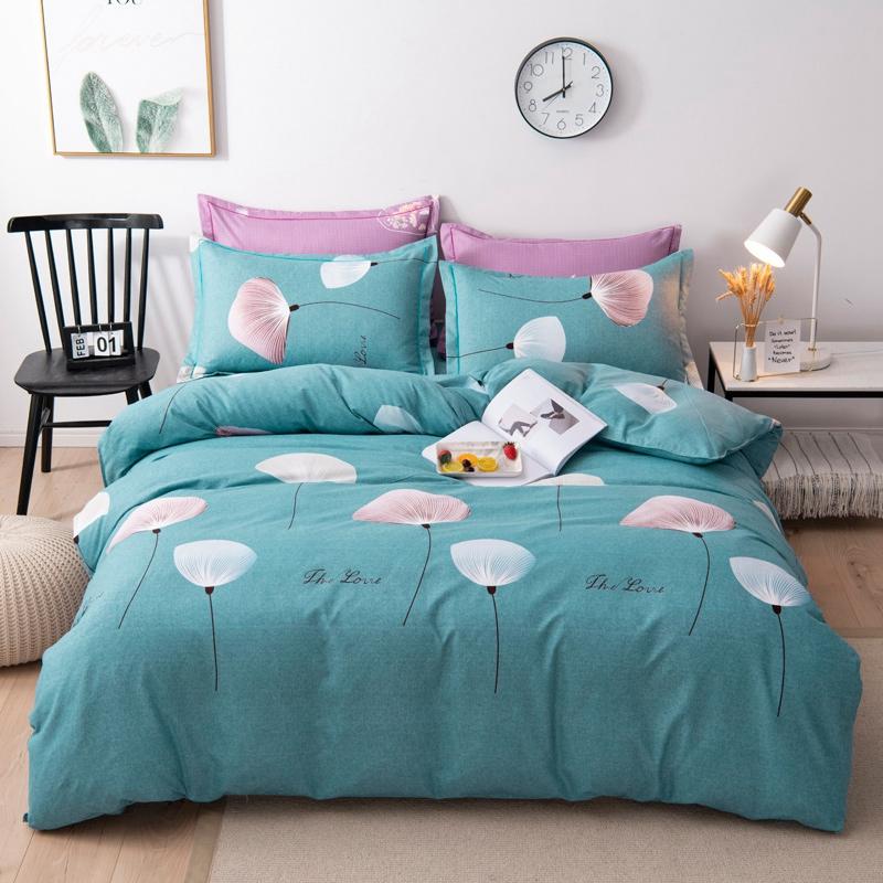 朗丝家纺亲肤棉印花磨毛四件套秋冬床上用品北欧风格套件被套1