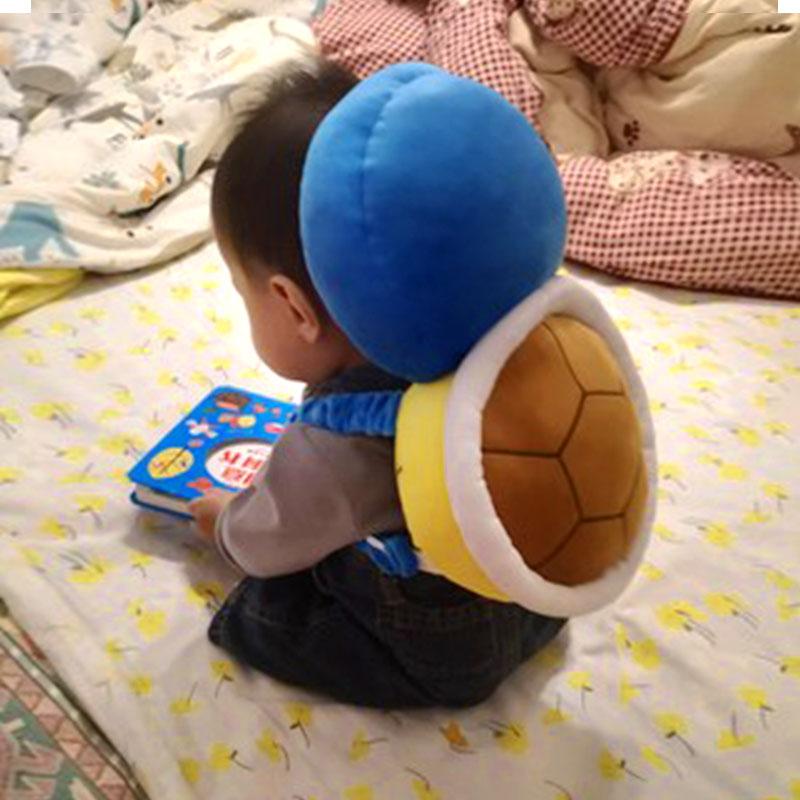 宝宝学走路杰尼龟防撞防摔头部保护枕垫防磕婴儿童学步护头帽神器