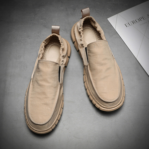 帆布鞋男秋季男鞋韩版潮流休闲鞋子夏天一脚蹬懒人鞋百搭男士布鞋