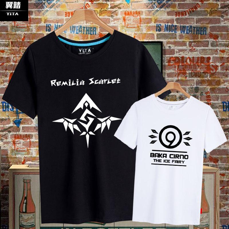 冰之妖精琪露诺蕾米莉芙露东方project短袖T恤男女半袖衫夏季衣服