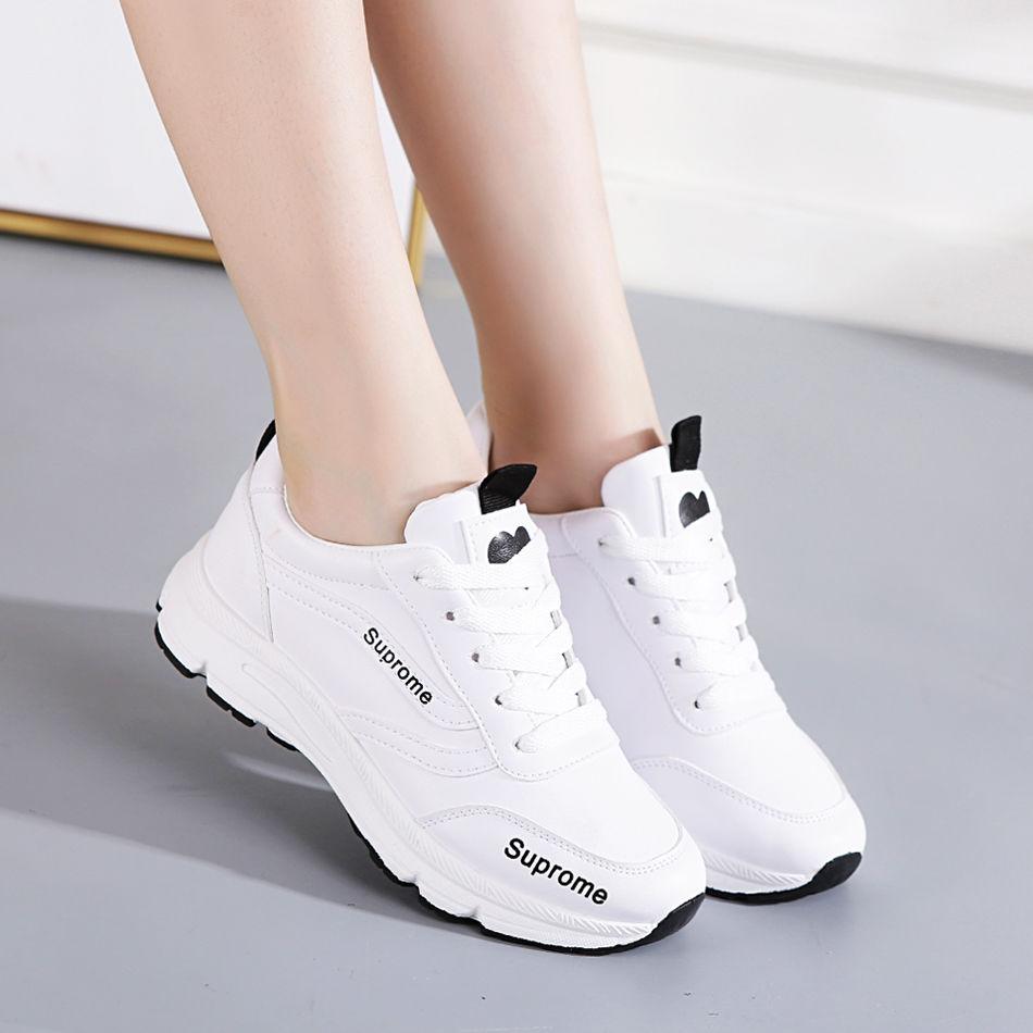 春夏季网纱透气平底百搭运动小白鞋(非品牌)